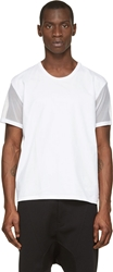 Denis Gagnon White Mesh Sleeved T Shirt
