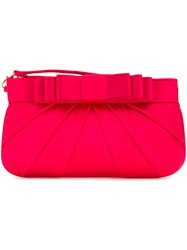 Love Moschino Bow Clutch Bag Red