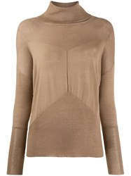 Lorena Antoniazzi Cashmere Roll Neck Sweater Neutrals