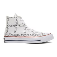 J.W.Anderson Jw Anderson White Converse Edition Grid Chuck Taylor All Star 70 High Top Sneakers