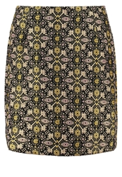 Louche Merie Mini Skirt Black Gold