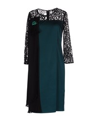 Chiara D'este Knee Length Dresses Green