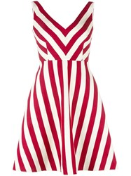 Red Valentino Striped Dress Red