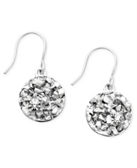Kenneth Cole New York Earrings Textured Silver Tone Coins
