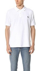 Paul Smith Ps By Regular Fit Zebra Polo Shirt White