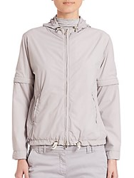 Eleventy Convertible Bomber Jacket Grey