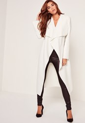 Missguided Oversized Waterfall Duster Coat White Ivory