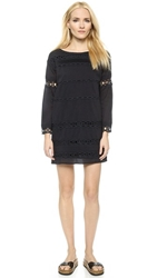 Pam And Gela Cotton Voile And Lace Dress Black