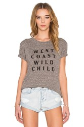 Amuse Society Coastal Babe Tee Gray