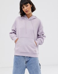 Weekday Oversized Hoodie In Lilac Purple