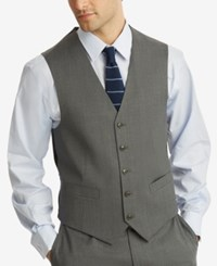 Tommy Hilfiger Men's Modern Fit Th Flex Stretch Suit Vest Gray