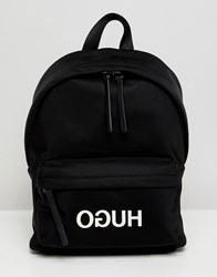 Hugo Logo Nylon Backpak Black Combi
