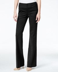 Inc International Concepts Petite Wide Leg Trousers Only At Macy's Deep Black