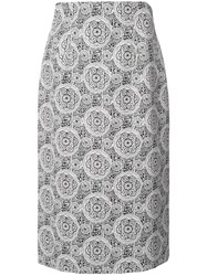 Creatures Of The Wind Patterned Straight Skirt Black