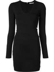 Alexander Wang T By Cut Out Fitted Dress Black