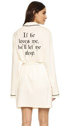 Wildfox Couture If He Loves Me Robe Vanilla