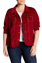 Live A Little Finewale Corduroy Jacket Plus Size Red