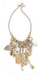 Marc By Marc Jacobs Heavy Metal Statement Necklace Oro Multi