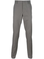 Lanvin Tailored Straight Fit Trousers Nude Neutrals