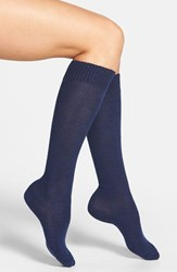Nordstrom Women's 'Luxury' Knee High Socks Navy