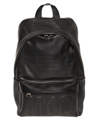 Mcq By Alexander Mcqueen Mcq Alexander Mcqueen Embossed Logo Faux Leather Backpack