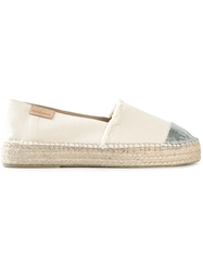 Mint And Rose Metallic Toe Cap Espadrilles Nude And Neutrals