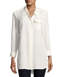 Nic Zoe Cool Mist Button Front Shirt White
