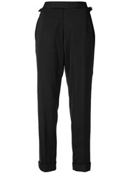 Tom Ford Cropped Tailored Trousers Black