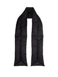 Acne Studios Quilted Padded Scarf Black