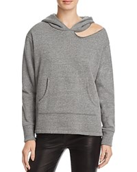 Lna Cueva Cutout Hoodie Heather Grey