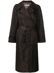 Dolce And Gabbana Vintage Loose Fit Midi Coat Brown
