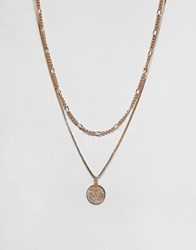 Aldo Chain Necklace With Disc In Gold