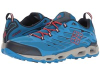 Columbia Ventrailia Ii Static Blue Poppy Red Men's Walking Shoes
