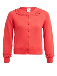 Barrie Timeless Romantic Cashmere Cardigan Pink