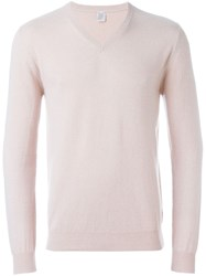 Eleventy V Neck Sweater Pink And Purple