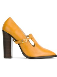 Preen By Thornton Bregazzi 'Brooke' Pumps Yellow And Orange
