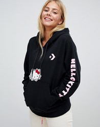 Converse X Hello Kitty Black Oversized Pullover Hoodie