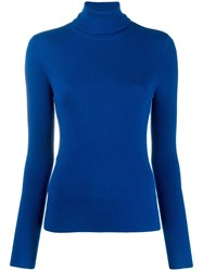 Mcq By Alexander Mcqueen Roll Neck Fitted Sweater Blue