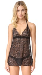 Hanky Panky After Midnight Wink Babydoll With G String Black