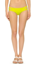 Red Carter Splice And Dice Hipster Bikini Bottoms Electric Lime