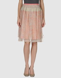 Peter Som Knee Length Skirts Pink