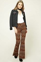 Forever 21 Zigzag Flared Pants