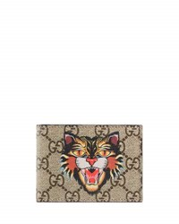 Gucci Angry Cat Gg Supreme Wallet Beige