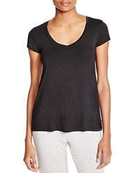 Josie Scoop Neck Tee Black