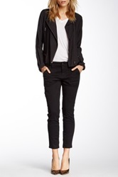 Level 99 Moto Liza Crop Zip Skinny Jean Black