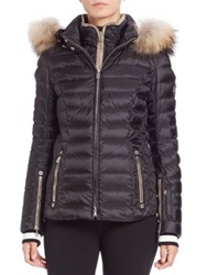 Bogner Kelly Fur Trimmed Short Puffer Jacket Black