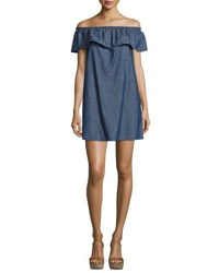 Soft Joie Nilima Off The Shoulder Chambray Dress Blue