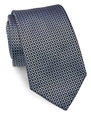 Ralph Lauren Diamond Patterned Woven Silk Tie Blue