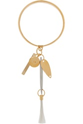 Chloe Harlow Gold Tone Feather Bracelet