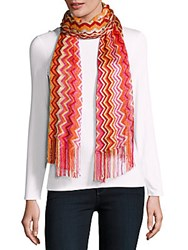 Missoni Chevron Patterned Scarf Camel